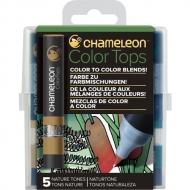Набор цветовых блендеров Chameleon Nature Tones, природные тона, 5 шт