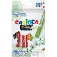 """Набор фломастеров для ткани Carioca """"Fabric Liner"""", 10 цветов"""