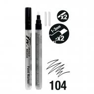 Набор пустых маркеров Daler Rowney FW ARTISTS 2XSM 1-3Mm Ch+Nbs 2 шт