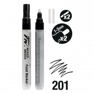 Набор пустых маркеров Daler Rowney FW ARTISTS 2X 1-2MM Rd+Nibs