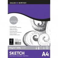 Альбом для зарисовок Daler Rowney Simply, 95 г/м2, 72 листов