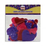 Набор разноцветных фетровых стикеров сердечки Fancy Creative, 40 шт.