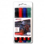 Набор универсальных перманентных маркеров EDDING 300, 1,5-3 мм, 4 цвета