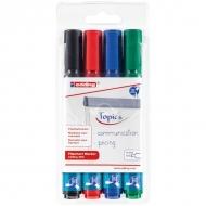 """Набор маркеров для флипчартов Edding """"380"""", 4 цвета, толщина линии 1,5-3,0 мм"""