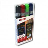Набор меловых маркеров EDDING 4095 для стекла и меловой доски, 2-3 мм, 4 цвета
