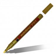Маркеры перманентные EDDING 751 для стекла, металла, пластика, резины, 1-2 мм, золото, серебро