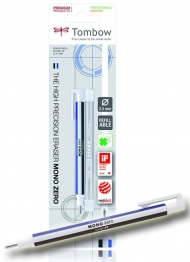 Ластик-ручка Tombow Mono Zero Eraser со сменным ластиком, круглый наконечник 2,3 мм