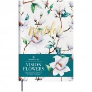 Ежедневник недатированный Greenwich Line Vision.Flowers, формат А5, 136 л., обложка кожзам, тонированная бумага