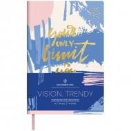Ежедневник недатированный Greenwich Line Vision.Trendy, формат B6, 136 л., обложка кожзам, тонированная бумага