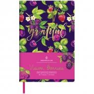 Ежедневник недатированный Greenwich Line Vision.Berries, формат B6, 136 л., обложка кожзам, тонированная бумага