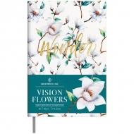 Ежедневник недатированный Greenwich Line Vision.Flowers, формат B6, 136 л., обложка кожзам, тонированная бумага