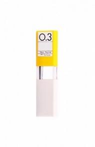 Чернографитовые грифели для механических карандашей Tombow MONO 0,3 мм, твердость H, 12 шт.
