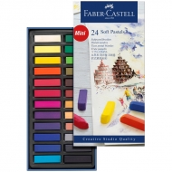 """Пастель Faber-Castell """"Soft pastels"""", 24 цв., мини"""