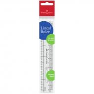 Линейка 15 см Faber-Castell, пластиковая