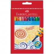 Карандаши восковые Faber-Castell, 12цв., выкручивающийся стержень