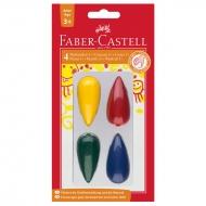 Мелки восковые Faber-Castell 04 цв., фигурные, блистер
