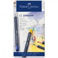"Карандаши цветные Faber-Castell ""Goldfaber"" 12цв., круглые"