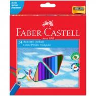 Набор цветных карандашей Еco Faber-Сastell, 24 цвета, с точилкой