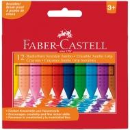 """Мелки восковые утолщенные Faber-Castell """"Grip Jumbo"""" 12 цв., трехгранные"""