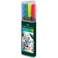 Набор капиллярных ручек-линеров Faber-Castell Grip, 0,4 мм, 10 цветов, трехгранные
