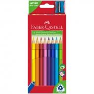 """Цветные карандаши Faber-Castell """"Jumbo"""" трехгранные 10 цв. грифель 3.8 мм"""