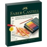 """Карандаши цветные художественные Faber-Castell """"Polychromos"""" 36цв., заточен., студийная коробка"""