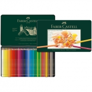 Цветные карандаши Faber-Castell Polychromos профессиональные, 36 цветов, металлический пенал