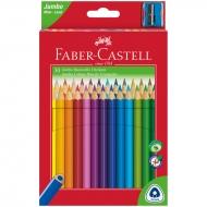 "Карандаши цветные Faber-Castell ""Jumbo"" 30цв. с точилкой"