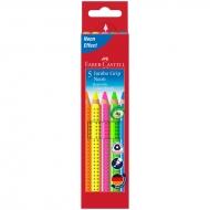 "Карандаши цветные Faber-Castell ""Jumbo Grip Neon"" 5 неоновых цвета"