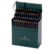 Набор капиллярных ручек для рисования Pitt Artist Pen Faber-Castell, 48 цветов, кож