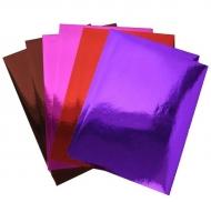 Набор самоклеющейся цветной бумаги Fancy Creative, металлик, 4 цвета по 2 листа, А4