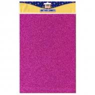 Набор блестящей бумаги с глиттером для творчества Fancy Creative, A4, 6 цветов, самоклеющаяся