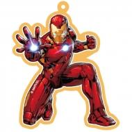 Ароматизатор автомобильный подвесной Marvel Железный человек Freshco, Ваниль