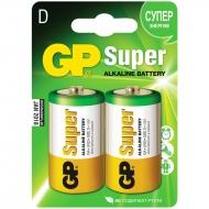 Батарейка GP Super D (LR20) 13A алкалиновая, BC2 (2шт. упаковка)