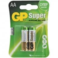 Батарейка GP Super AA (LR06) 15A алкалиновая, BC2 (2шт. упаковка)