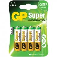 Батарейка GP Super AA (LR06) 15A алкалиновая, BC4 (4шт. упаковка)