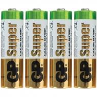 Батарейка GP Super AA (LR06) 15A алкалиновая, SB4 (4шт. упаковка)