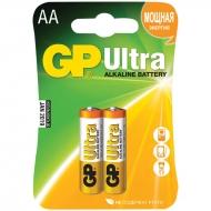 Батарейка GP Ultra AA (LR06) 15AU алкалиновая, BC2 (2шт. упаковка)