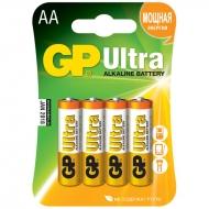 Батарейка GP Ultra AA (LR06) 15AU алкалиновая BC4 (4шт. упаковка)