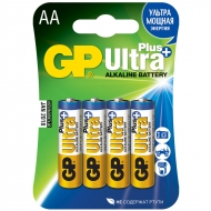 Батарейка GP Ultra Plus AA (LR06) 15AUP алкалиновая BC4 (4шт. упаковка)