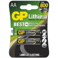 Батарейка GP AA (LR06) литиевая 15LF BL2 (2шт. упаковка)
