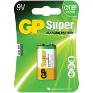 Батарейка GP Super MN1604 (6LR61) Крона, алкалиновая, BC1 (1шт. упаковка)