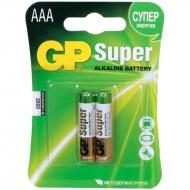 Батарейка GP Super AAA (LR03) 24A алкалиновая, BC2 (2шт. упаковка)