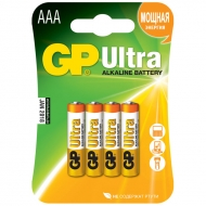 Батарейка GP Ultra AAA (LR03) 24AU алкалиновая BC4 (4шт. упаковка)