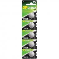 Батарейка GP CR2025 (DL2025) литиевая, BC5 (5шт. упаковка)