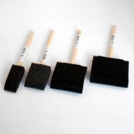 Кисти поролоновые плоские FERRARIO для рисования и декора, размер 25 мм