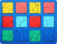 """Развивающее пособие из дерева """"Сложи квадрат"""" Б.П.Никитин 3ур. (макси)"""