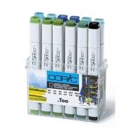 Набор спиртовых маркеров для рисования Copic Пейзаж 12 цветов