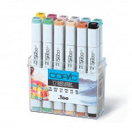 Набор маркеров COPIC Pastel Colours Пастель, 12 шт. + ПОДАРОК Бумага Copic для рисования