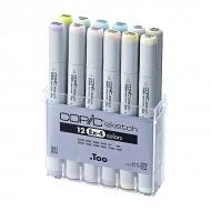 Набор маркеров COPIC Sketch EX-4 с супер-кистью, 12 шт.+ ПОДАРОК Бумага Copic для рисования